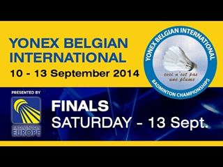 Finale heren dubbel Yonex Belgian International 2014